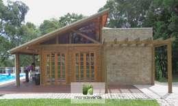 Casas de estilo rural por Moradaverde Arquitetura