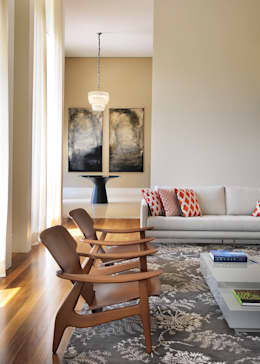 Salas de estilo moderno por BRENO SANTIAGO ARQUITETURA E INTERIORES