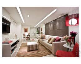 Salon de style de style Moderne par Wesley Lemos Arquitetura & Design