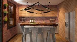 Cocinas de estilo ecléctico por FAMM DESIGN