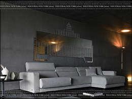 Зеркало - INDUSTRIAL/NEW-YORK[silver]: Гостиная в . Автор – KAGADATO