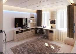 Oficinas de estilo moderno por hq-design