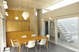 minimalistic Dining room by 久安典之建築研究所