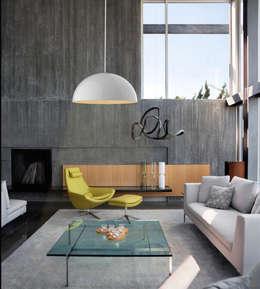 Iluminación industrial: Salas de estilo industrial por Co&Ca  Design
