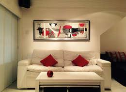 ARQUITECTURA INTERIOR: Livings de estilo moderno por CubiK