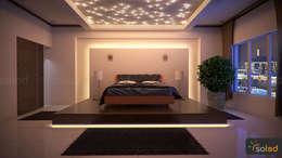 modern Bedroom by SOLED Projekty i Dekoracje Świetlne Jacek Solka