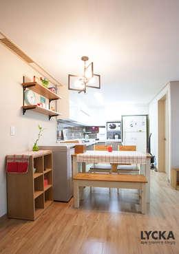 LYCKA interior & styling: iskandinav tarz tarz Yemek Odası