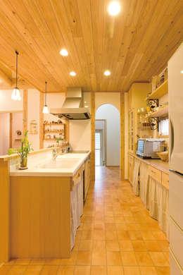 キッチン、パントリー: 株式会社粋の家が手掛けたキッチンです。