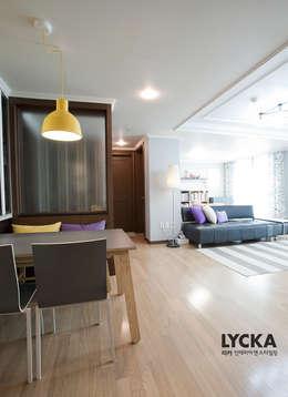 판교 아파트 홈드레싱: LYCKA interior & styling의  다이닝 룸