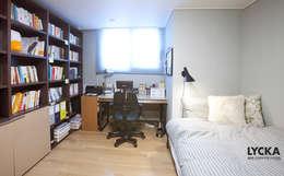 판교 아파트 홈드레싱: LYCKA interior & styling의  서재 & 사무실