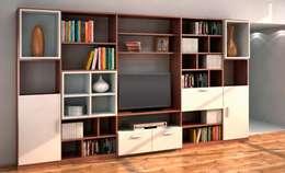 Muebles para televisión: Salas de estilo clásico por Interioriza