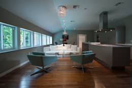 Salas / recibidores de estilo moderno por Elías Arquitectura