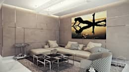 студия визуализации и дизайна интерьера '3dm2': minimal tarz tarz Oturma Odası