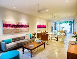 Sala - B+H45: Salas de estilo moderno por HPONCE ARQUITECTOS