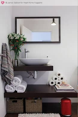 industrial Bathroom by Heart Home magazine