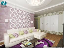 Violette Farbgestaltung Im Wohnzimmer