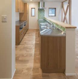 modern Kitchen by 岡本建築設計室