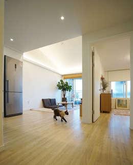 IDÉEAA _ 이데아키텍츠: modern tarz Oturma Odası