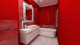 Baños de estilo moderno por Katarzyna Wnęk
