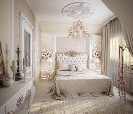 Проект 2х этажного коттеджа в стиле современная классика: Спальни в . Автор – Инна Михайская