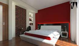 Katarzyna Wnęk: modern tarz Yatak Odası