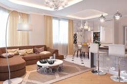 ЖК Велл Хаус (Well House), 163 м²: Гостиная в . Автор – Bronx