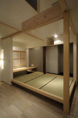 新田の家: フクシアンドフクシ建築事務所が手掛けた和室です。