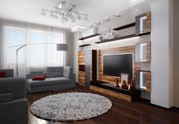 Salas de estilo moderno por Инна Михайская