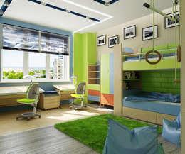 Проект 3х комнатной квартиры в Харькове: Детские комнаты в . Автор – Инна Михайская