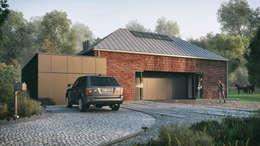 Optymalny plus premium #4: styl minimalistyczne, w kategorii Domy zaprojektowany przez INDEA