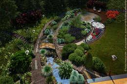 Jardins modernos por Мастерская ландшафта Дмитрия Бородавкина