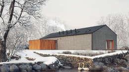 Dostępny plus premium #4: styl minimalistyczne, w kategorii Domy zaprojektowany przez INDEA