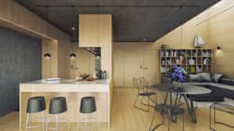 Dostępny comfort (aranżacja #3): styl , w kategorii Kuchnia zaprojektowany przez INDEA