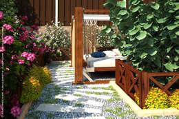Jardines de estilo rural por Мастерская ландшафта Дмитрия Бородавкина