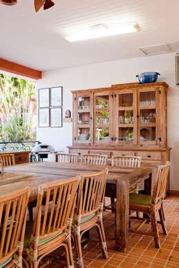 Casa de Campo Cabreúva: Cozinhas campestres por Cactus Arquitetura e Urbanismo