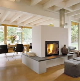 moderne Woonkamer door Bau-Fritz GmbH & Co. KG