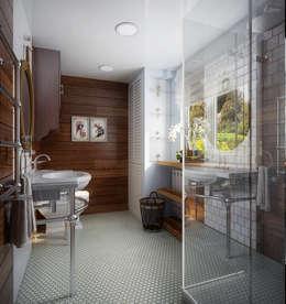Проект гостевого домика : Ванные комнаты в . Автор – Инна Михайская