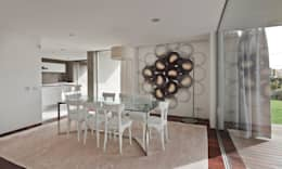 minimalistic Dining room by Areacor, Projectos e Interiores Lda