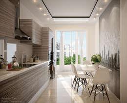 Projekty,  Kuchnia zaprojektowane przez Студия интерьерного дизайна happy.design
