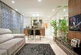 Projekty,  Salon zaprojektowane przez Luciana Hara Arquitetura