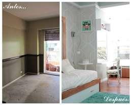Segundo dormitorio:  de estilo  por Indinaco srl Construcciones y servicios