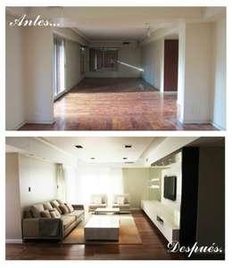 Living :  de estilo  por Indinaco srl Construcciones y servicios
