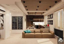 Projekty,  Salon zaprojektowane przez Studio Eksarev & Nagornaya