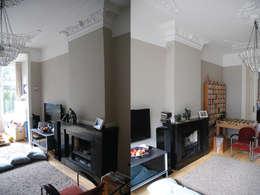 woonzitkamer voor de verbouwing:   door Marc Font Freide Architectuur