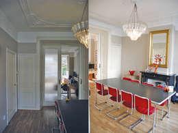 wooneetkamer voor de verbouwing:   door Marc Font Freide Architectuur