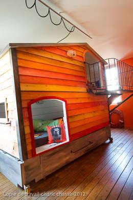 Cabanes : Chambre d'enfants de style  par Tabary Le Lay