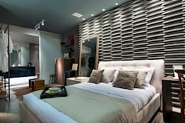 Projekty,  Sypialnia zaprojektowane przez Cristiane Locatelli Arquitetos & Associados