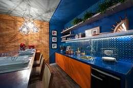 مطبخ تنفيذ Cristiane Locatelli Arquitetos & Associados