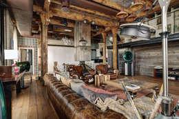 Livings de estilo industrial por Lev Lugovskoy