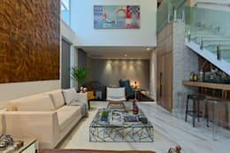 Lucas Lage Arquitetura: modern tarz Oturma Odası